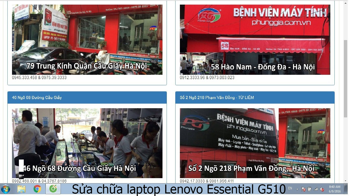 sửa chữa laptop Lenovo Essential G510