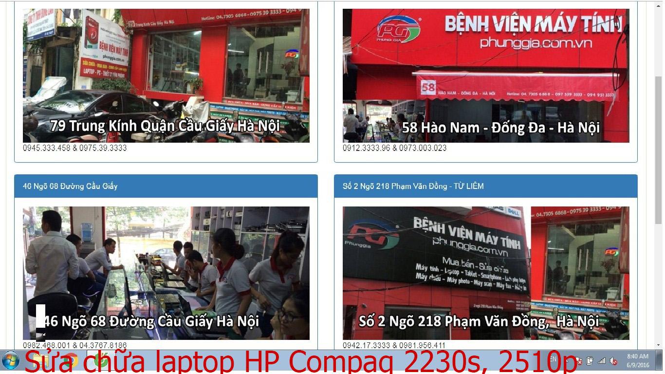 sửa chữa laptop HP Compaq 2230s, 2510p, Presario CQ40-504TX